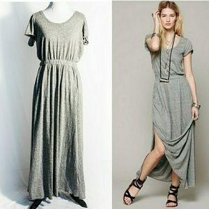 Free People Beach Audrina's Maxi Dress Gray Medium